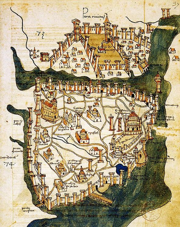 1422 İstanbul Bostanları Haritası
