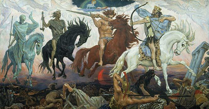 Four Horsemen of Apocalypse, Viktor Vasnetsov. 1887.