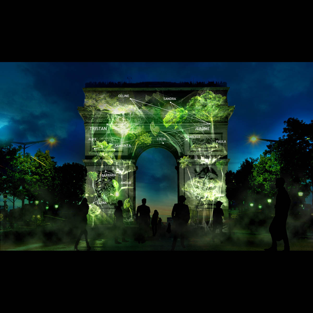 'Bir Kalp Bir Ağaç' (One Heart One Tree) projesi ile Paris'in anıtları birer ormana dönüşecek.