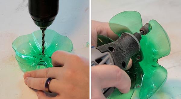 Plastik şişelerden takı standı yapımı