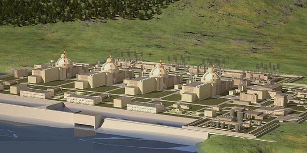 Akkuyu'ya yapılması düşünülen Nükleer Santralın planı.
