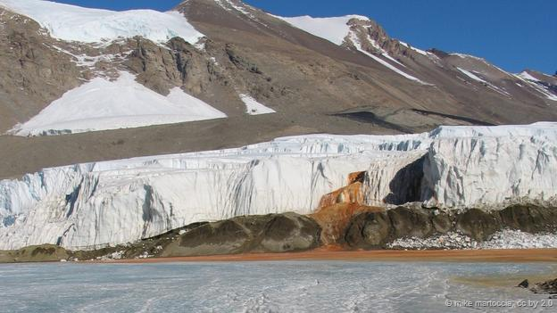 Blood Falls in east Antarctica (Credit: Mike Martoccia, CC by 2.0)