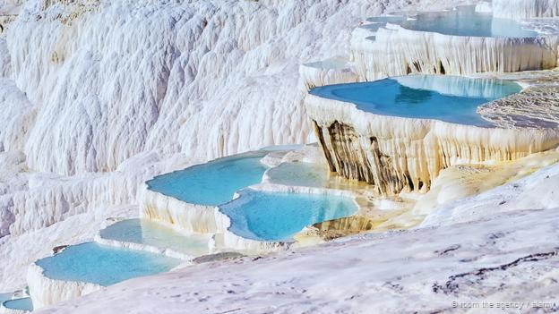 Pamukkale Travertine Terraces, Turkey (Credit: RooM the Agency / Alamy)