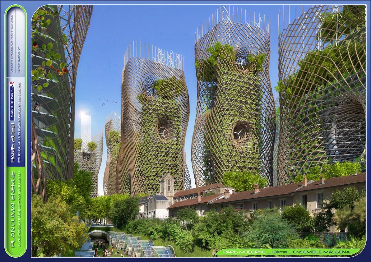 Paris, Fransa, eko mimari, 2050