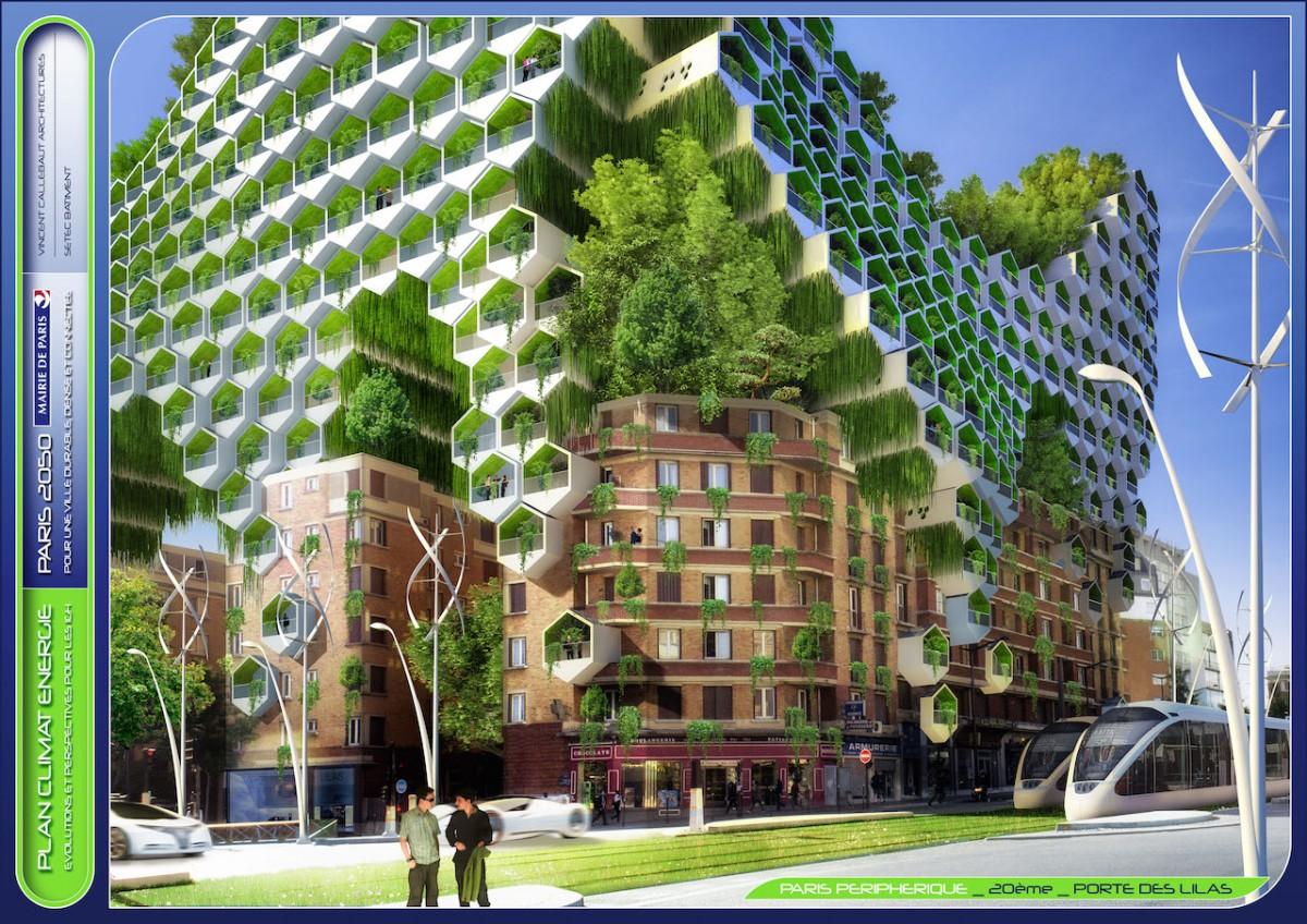Paris, Fransa, eko mimari, 2050,