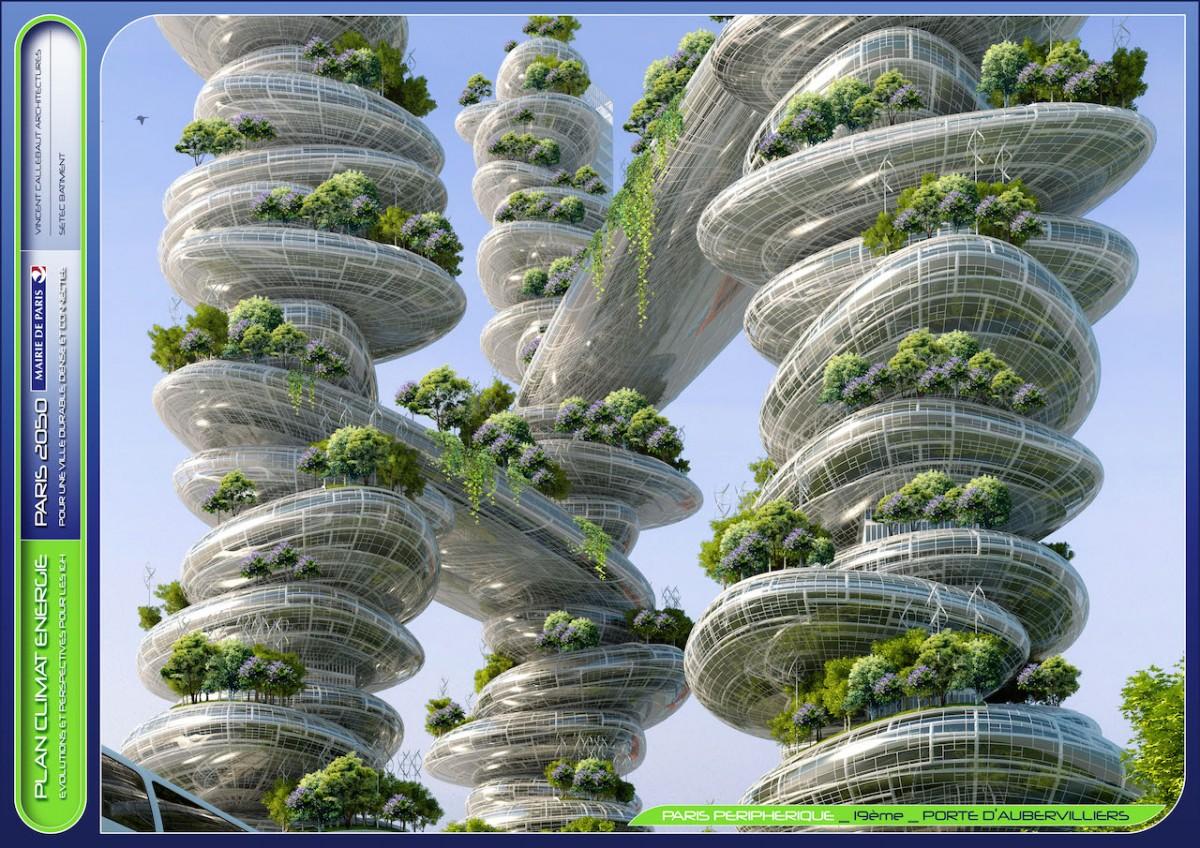 Paris, Fransa, 2050, eko mimari