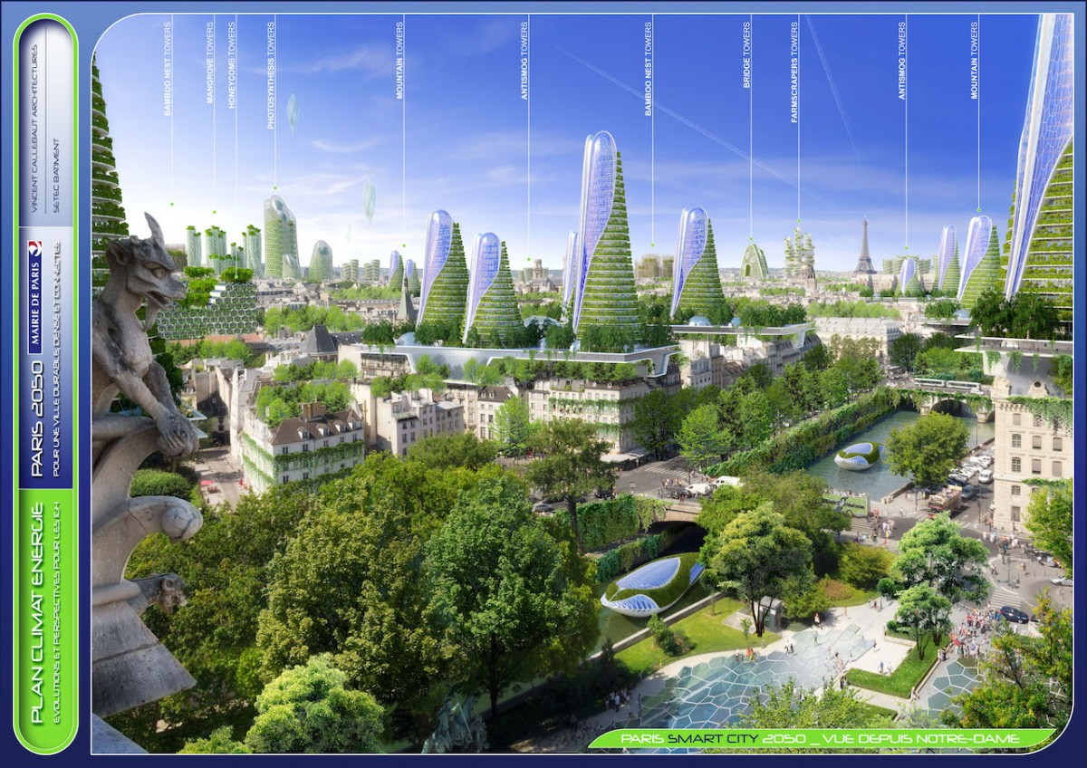 Fransa, Paris, eko mimari, 2050