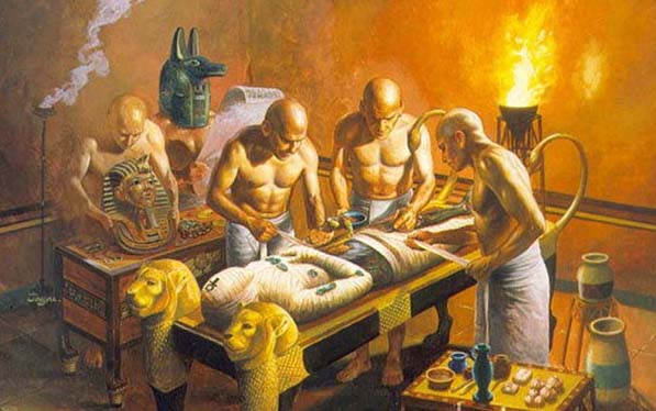 Antik Mısır'da mumyalanma.