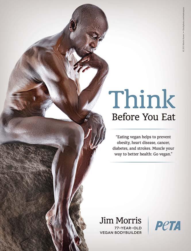 Jim Morris 78 yaşında ve vegan diyetini uygulayan vücut geliştiricilerden biri. Kendisi pek de 78'lik gibi durmuyor.