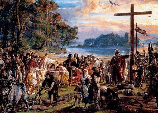 Polonya'nın Hristiyanlığı 966 yılında kabul etmiştir. (Resim: Jan Matejko)