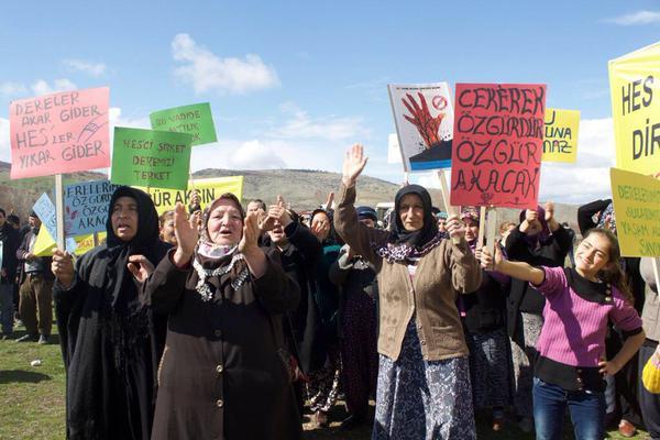 Zile Köylüler HES protesto