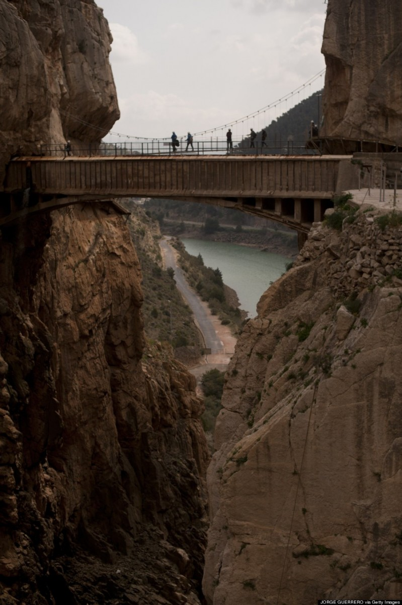 SPAIN-TOURIST-HIKING-CAMINITO DEL REY