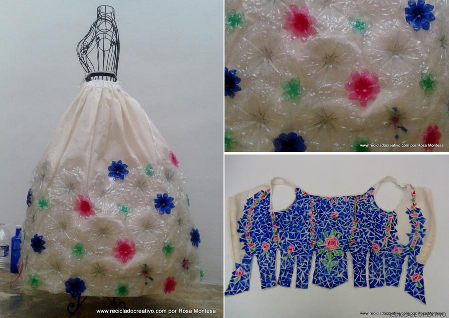 geri dönüşüm elbisesi, plastik şişe