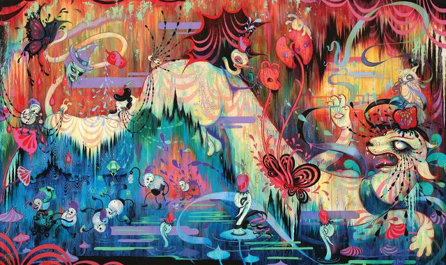 Garcia, The Snow White and the Black Lagoon isimli sergisinde çevresel yıkıma dikkat çekmek istemiş. Çalışmalarında kendi kişisel mitlerini oluşturan sanatçı, insanların Dünya'dan uyur halde geçtiklerini ve geçerken de doğaya ne kadar zarar verdiklerine dikkat etmediklerini yansıtıyor. Pamuk Prenses'in zehirli uykusu da bunu anlatıyor olmalı.