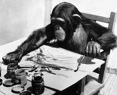 Congo Şempanze Ressam