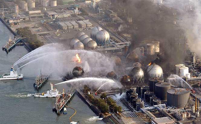 Japonya'da yaşanan Fukuşima nükleer felaketi sırasında.