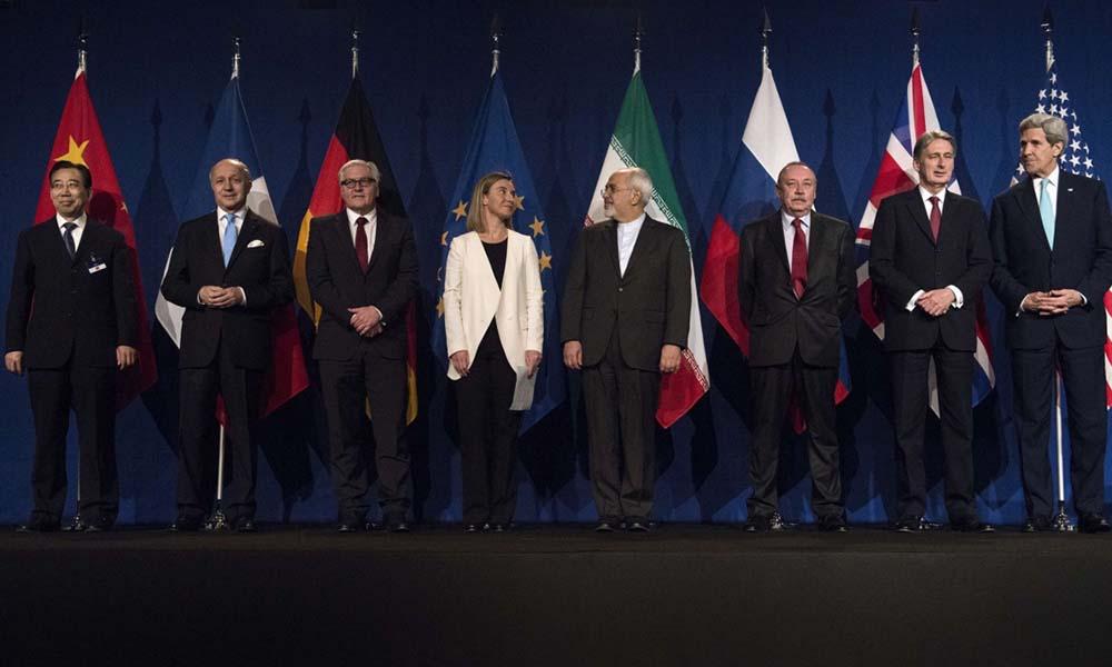 İran ile 5+1 ülkelerinin arasında gerçekleşen nükleer enerji görüşmelerinden, Lozan, İsviçre (Fotoğraf: The Guardian)