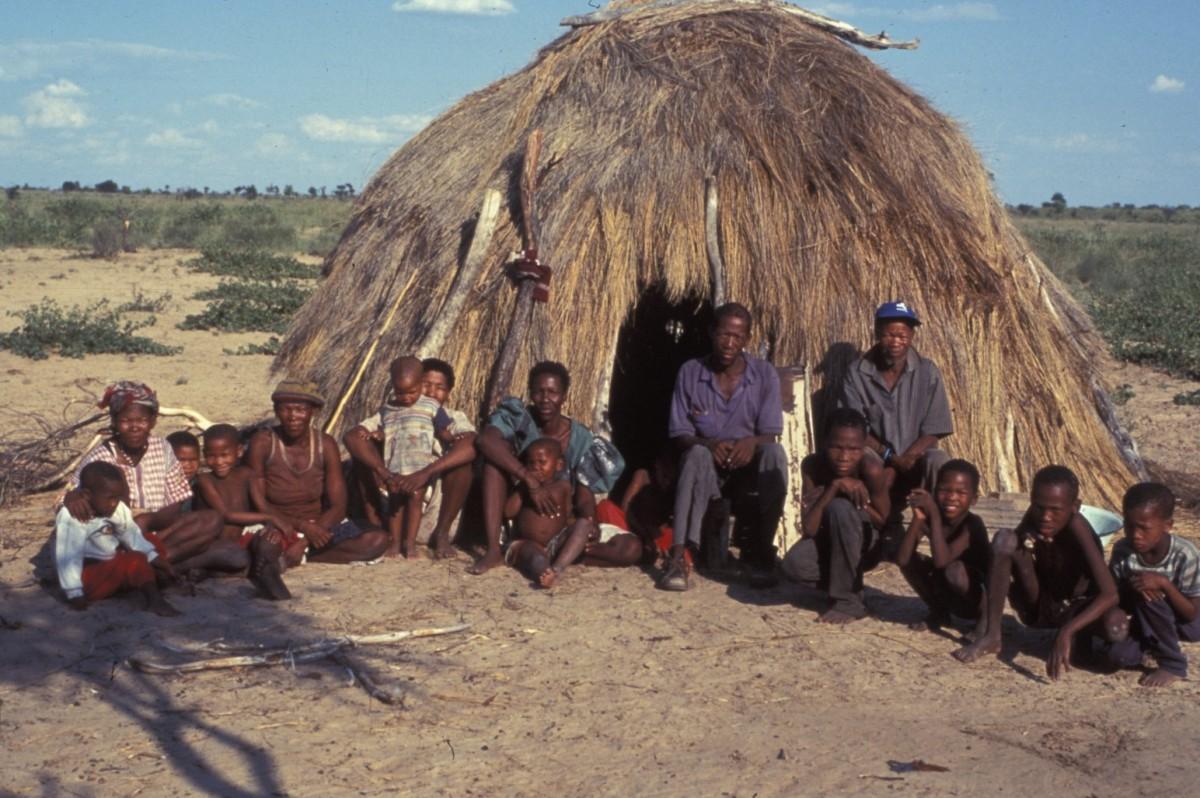 Kalahari Çölü'ndeki Bushmanlar