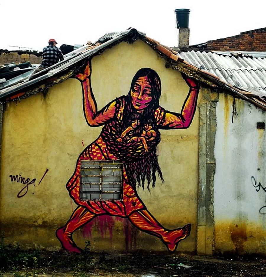 Bastardilla Sokak sanatçısı 3  Adaletsizlik karşıtı eserleriyle Kolombiya duvarlarını renklendiren kadın: Bastardilla Bastardilla Sokak sanat C3 A7 C4 B1s C4 B1 3