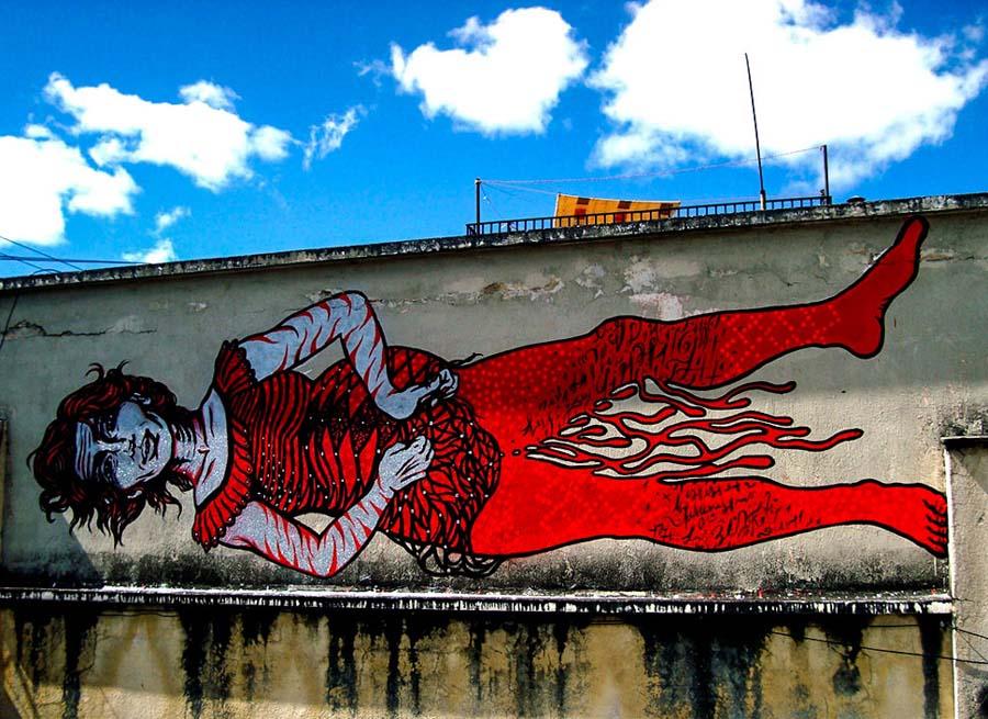 Bastardilla sokak sanatçısı 2  Adaletsizlik karşıtı eserleriyle Kolombiya duvarlarını renklendiren kadın: Bastardilla Bastardilla sokak sanat C3 A7 C4 B1s C4 B1 2