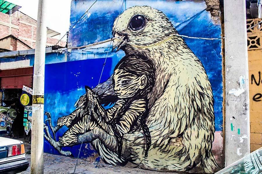 Bastardilla sokak sanatçısı 6  Adaletsizlik karşıtı eserleriyle Kolombiya duvarlarını renklendiren kadın: Bastardilla Bastardilla sokak sanat C3 A7 C4 B1s C4 B1 6