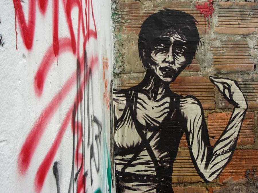 Bastardilla sokak sanatçısı 8  Adaletsizlik karşıtı eserleriyle Kolombiya duvarlarını renklendiren kadın: Bastardilla Bastardilla sokak sanat C3 A7 C4 B1s C4 B1 8