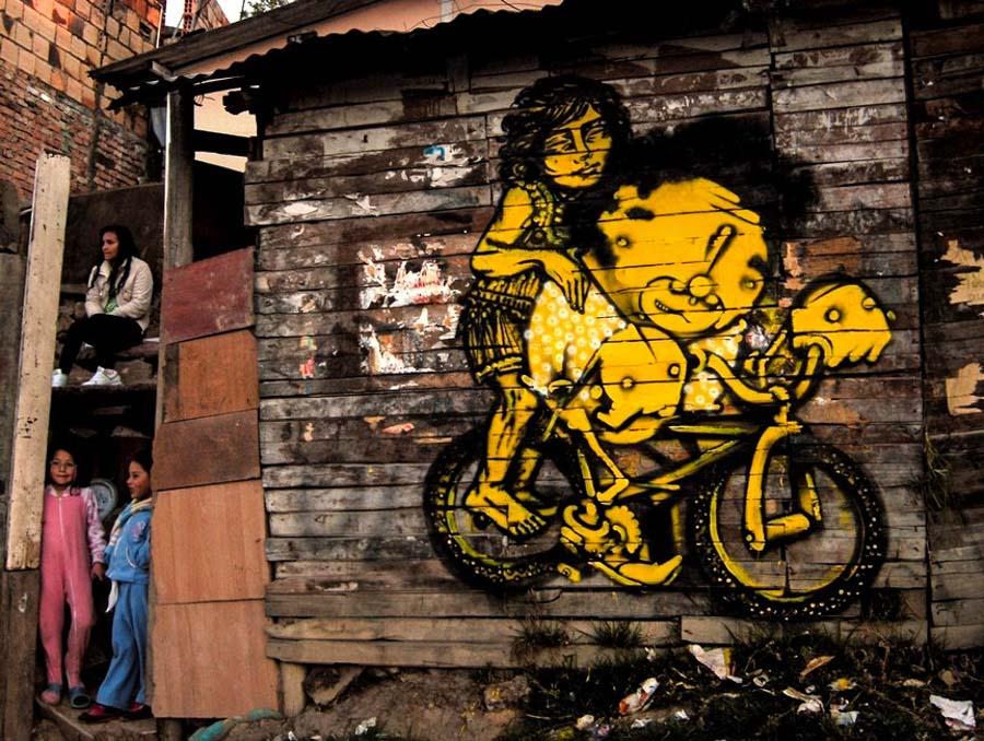 Bastardilla sokak sanatçısı  Adaletsizlik karşıtı eserleriyle Kolombiya duvarlarını renklendiren kadın: Bastardilla Bastardilla sokak sanat C3 A7 C4 B1s C4 B1