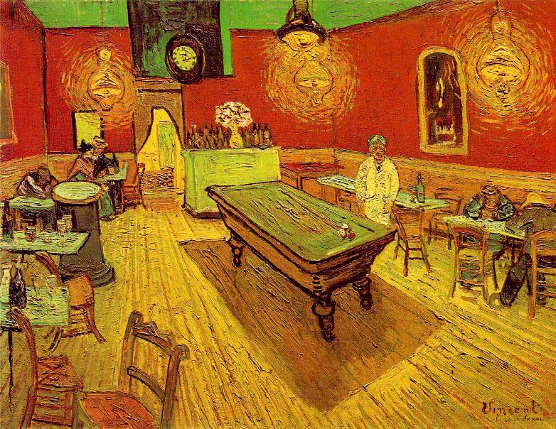 Van Gogh Gece Kafesi  Van Gogh'un gözünden Van Gogh tablolarına bakmayı kim istemez ki? Van Gogh Gece Kafesi