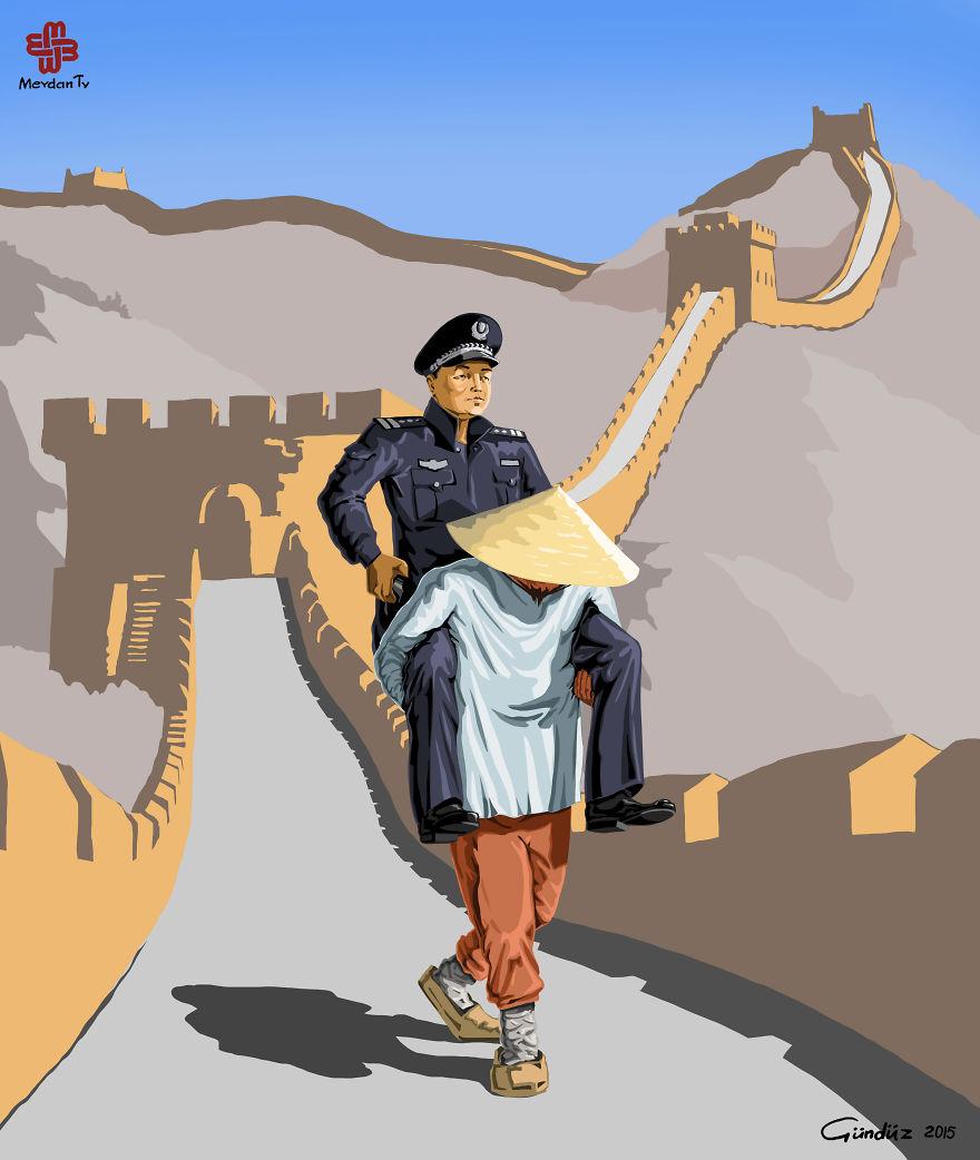 Çin'de Polis