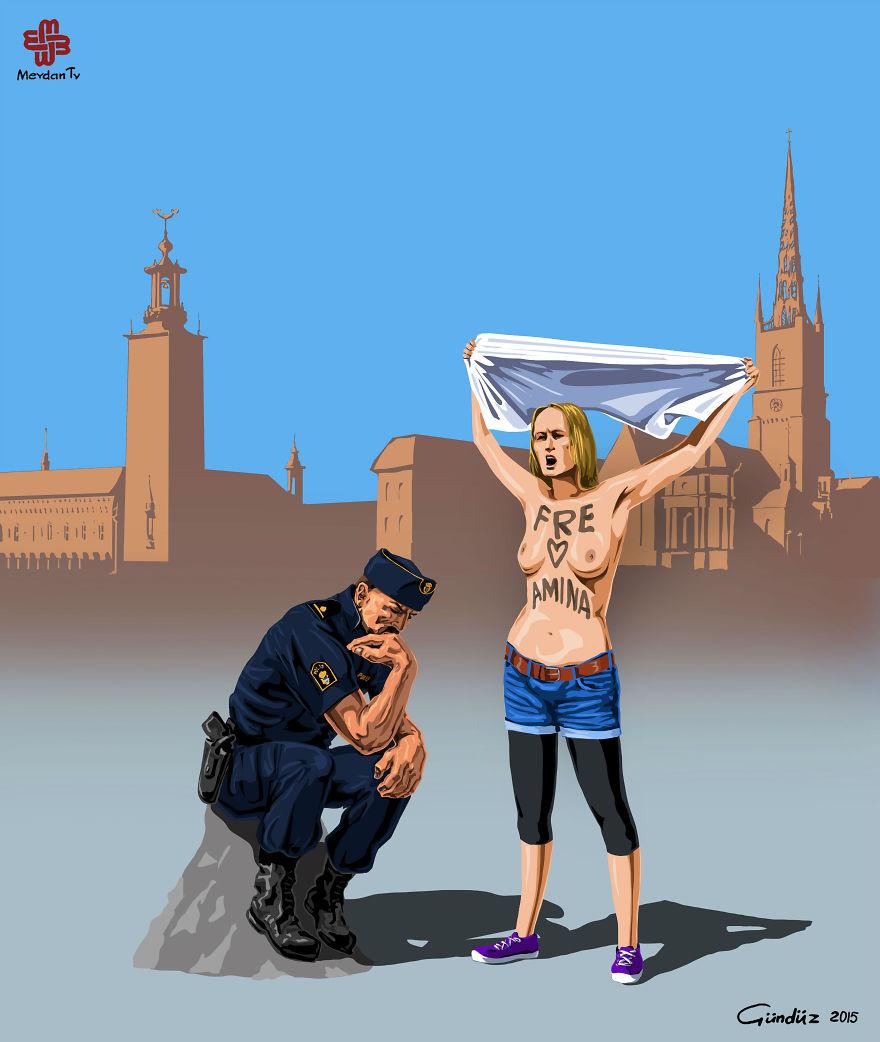İsveç'te Polis