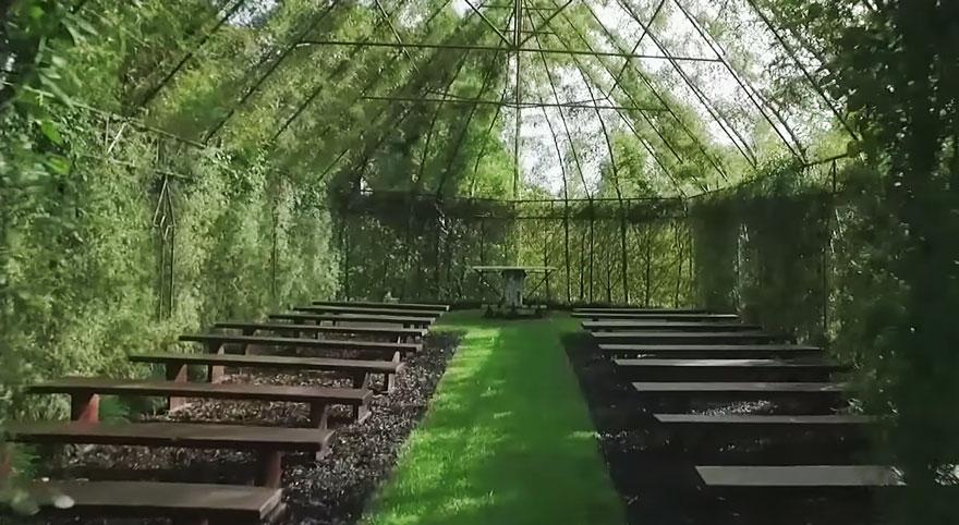 Ağaç Kilise 4 Yeni Zelandalı bahçeci Yeni Zelandalı bahçeci ve ağaçlardan yaptığı harika kilisesi A C4 9Fa C3 A7 Kilise 4