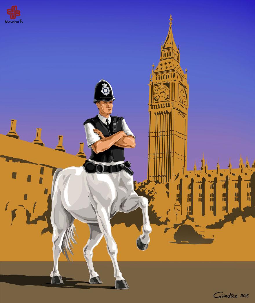 Londra'da Polis