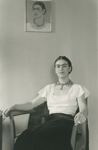 Lucienne Bloch. Frida At The Barbizon Hotel, 1933. Courtesy of Throckmorton Fine Art