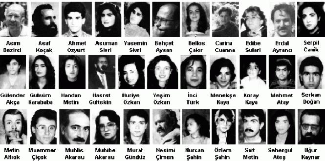 Sivas Katliamı 1  Katliamlar coğrafyası Türkiye: Zilan Deresi'nden Ankara'ya Sivas Katliam C4 B1 1
