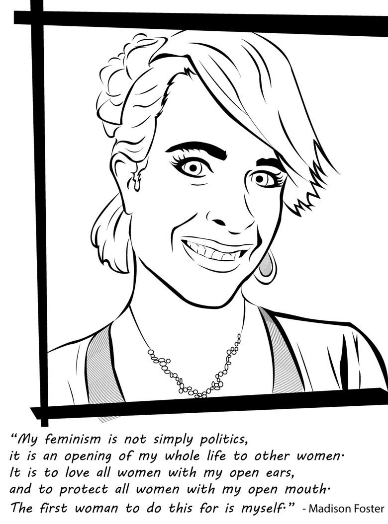 Badass Feminist Coloring Book 7
