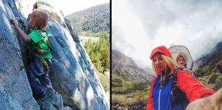 Yeni yürümeye başlayan Bodhi'nin fotoğraflarla 483 km'den fazla doğa yürüyüşü