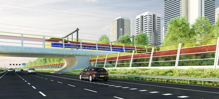 Güneşle elektrik üreten trafik ses bariyerleri (1)
