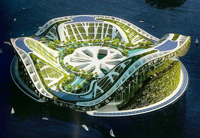 Lilypad Geleceğin ekolojik yüzen evleri (3)