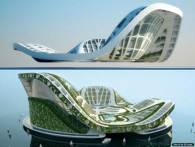Lilypad Geleceğin ekolojik yüzen evleri (6)