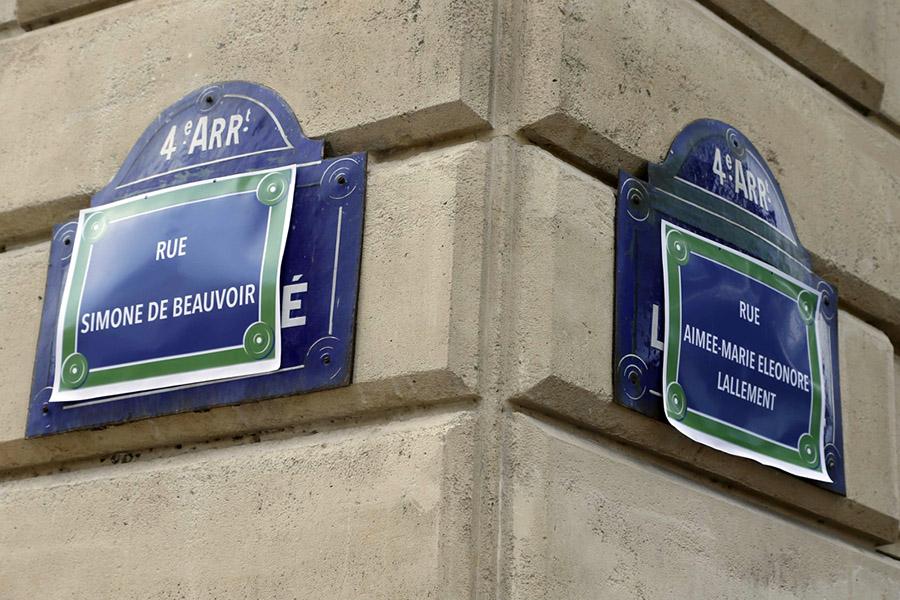 Paris Feminist Sokak İsimleri 2