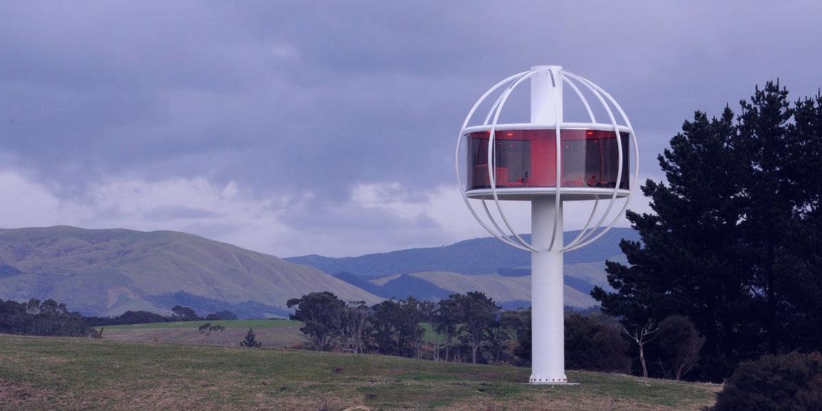 Kozmos manzaralı ve güneş enerjili Skyphere, doğa içinde yaşama farklı bir bakış sunuyor