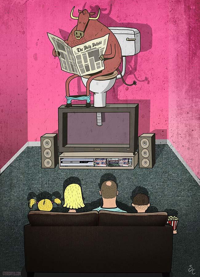 Steve Cutts illüstrasyonlarıyla günümüz dünyasının acı gerçekleri 12