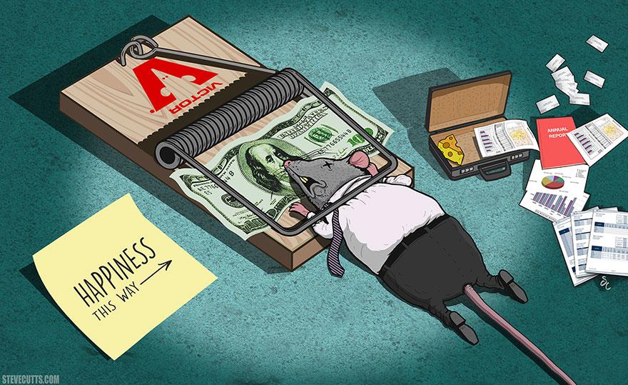 Steve Cutts illüstrasyonlarıyla günümüz dünyasının acı gerçekleri 2