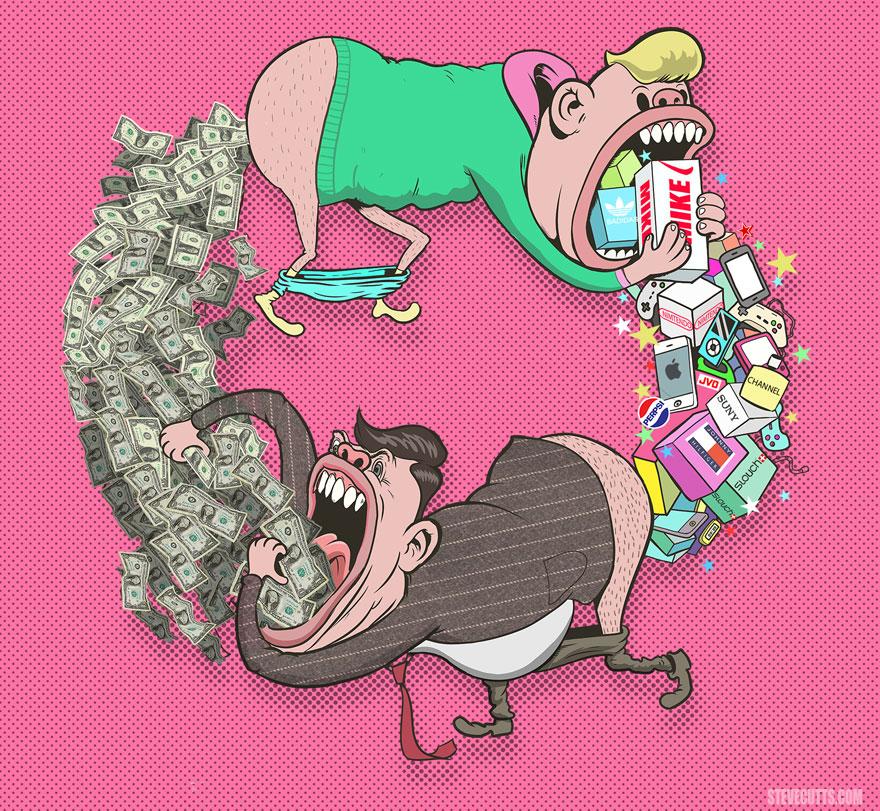 Steve Cutts illüstrasyonlarıyla günümüz dünyasının acı gerçekleri 4