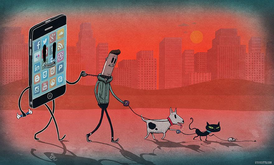 Steve Cutts illüstrasyonlarıyla günümüz dünyasının acı gerçekleri 7