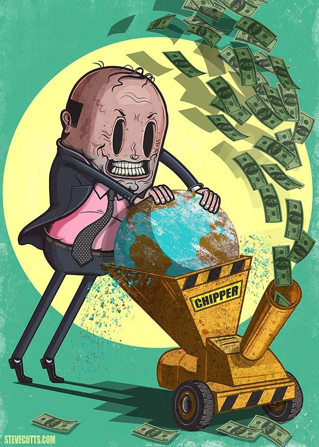 Steve Cutts illüstrasyonlarıyla günümüz dünyasının acı gerçekleri 8