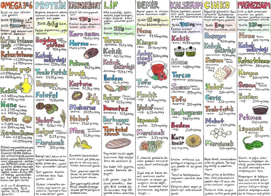 Vegan Beslenme Tablosu 1