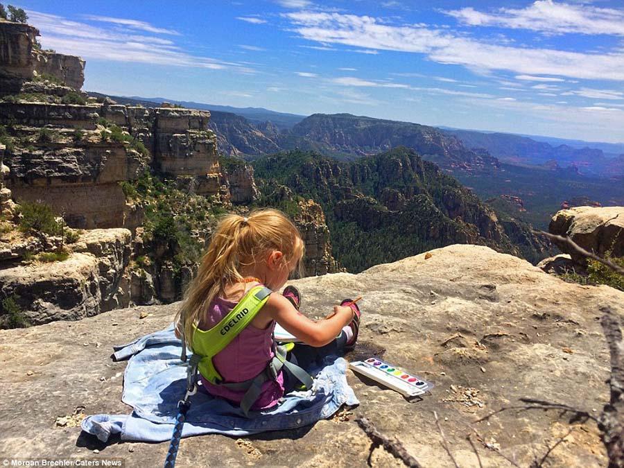 3 yaşındaki kızıyla doğayı keşfediyor 2