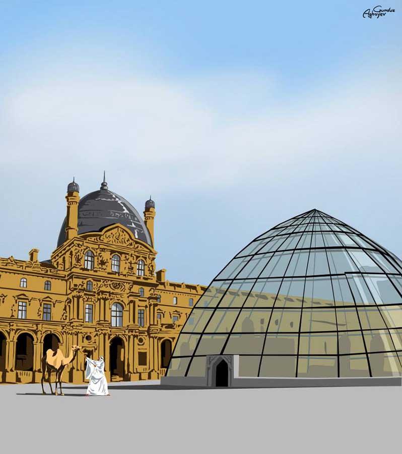 Batı mimarisi ile doğu kültürü bir araya geliyor 4