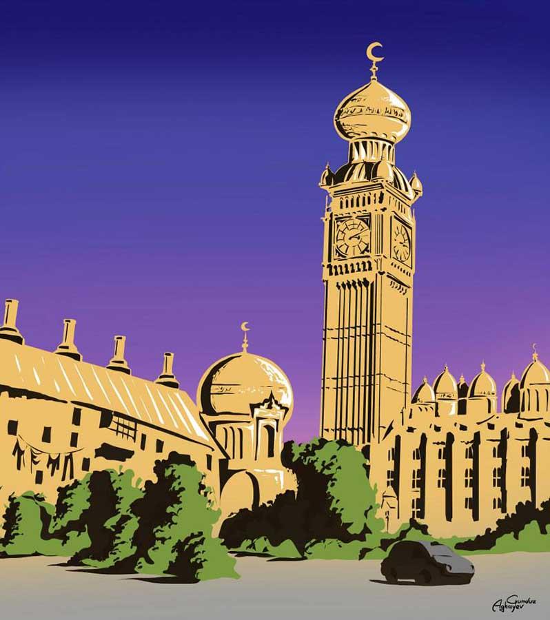 Batı mimarisi ile doğu kültürü bir araya geliyor 5